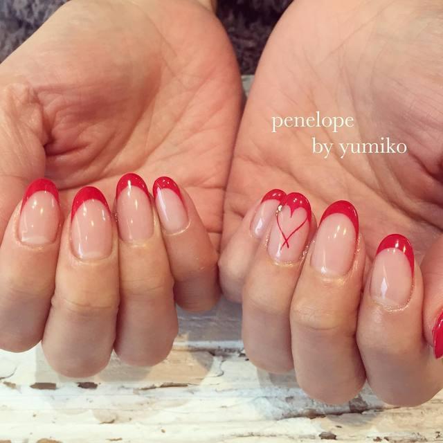 夏にもぴったり!女を上げる赤系フレンチネイルのデザイン , @cosmeまとめ(アットコスメまとめ)