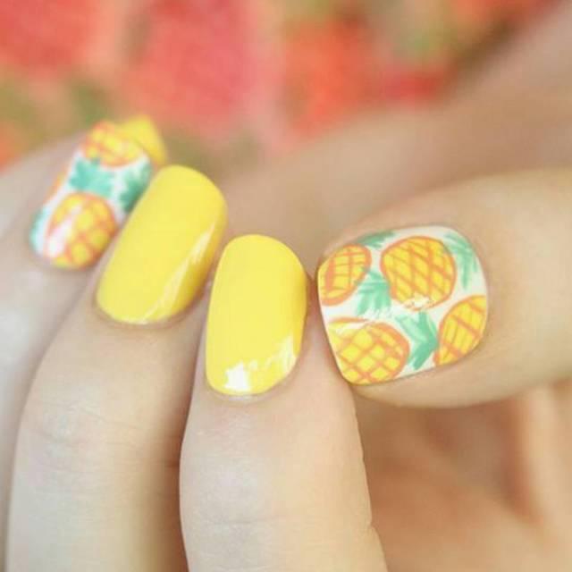 注目のフルーツネイル♡パイナップル柄に挑戦しよう♪ , @cosmeまとめ(アットコスメまとめ)