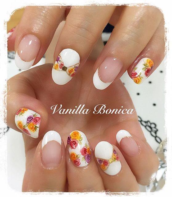 花柄ネイルファンに!セルフで簡単にできるかわいくてきれいな\u201c花の描き方\u201d♡ , @cosmeまとめ(アットコスメまとめ)