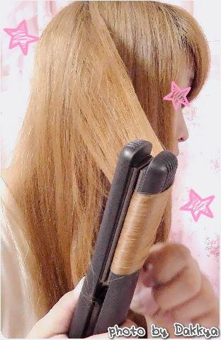 ストレートアイロン 巻き髪